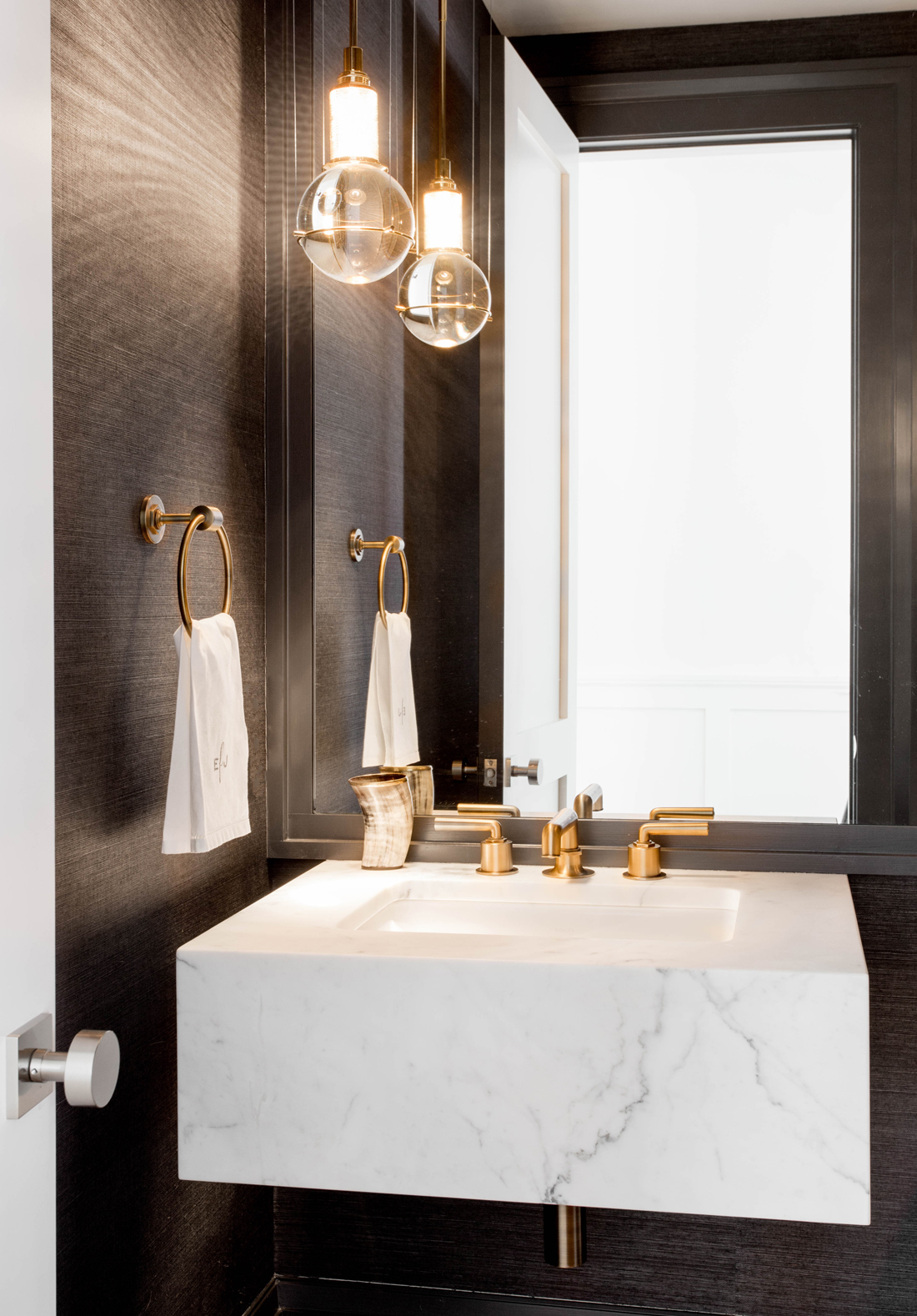 Dark Powder Room by Tamara Magel | DPAGES
